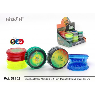 Ref: 58302 Plastico molinillo para fumar 3F 208 3D