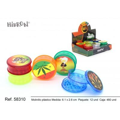 Ref: 58310 Plastico molinillo para fumar 3F 033-1