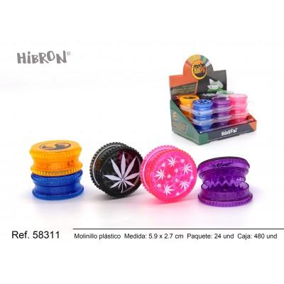 Ref: 58311 Plastico molinillo para fumar 3F 053XT