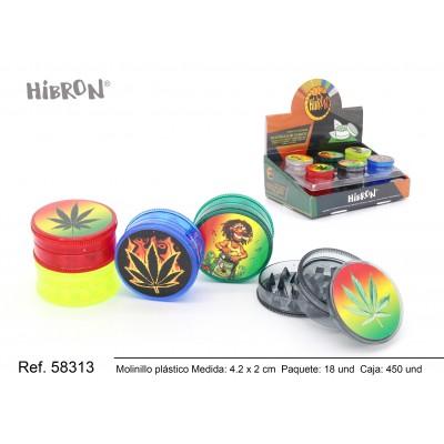 Ref: 58313 Plastico molinillo para fumar 3F 234-1