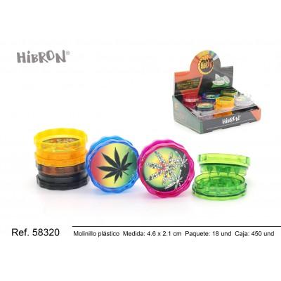 Ref: 58320 Plastico molinillo para fumar 2F 068