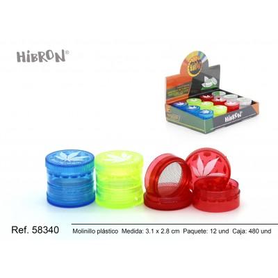 Ref: 58340 Plastico molinillo para fumar 4F 544S