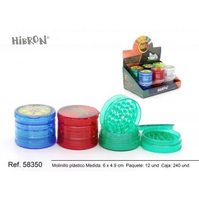 Ref: 58350 Plastico molinillo para fumar 5F 224-1