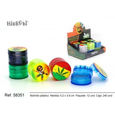 Ref: 58351 Plastico molinillo para fumar 4F 001-1