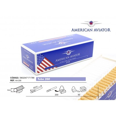 TUBOS AMERICAN AVIATOR 200, CAJA DE 200 TUBOS, 1x5